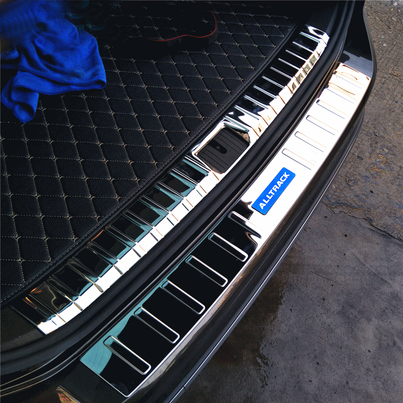 POUR Passat B8 Variante Alltrack tronc garde acier inoxydable autocollant de voiture pare-chocs Arrière protection accessoires