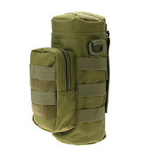 Nylon Water Bottle Pouch Water-repellent Zipper Camo Water Bottle Tactical Military Pack Bag for Travel Climbing