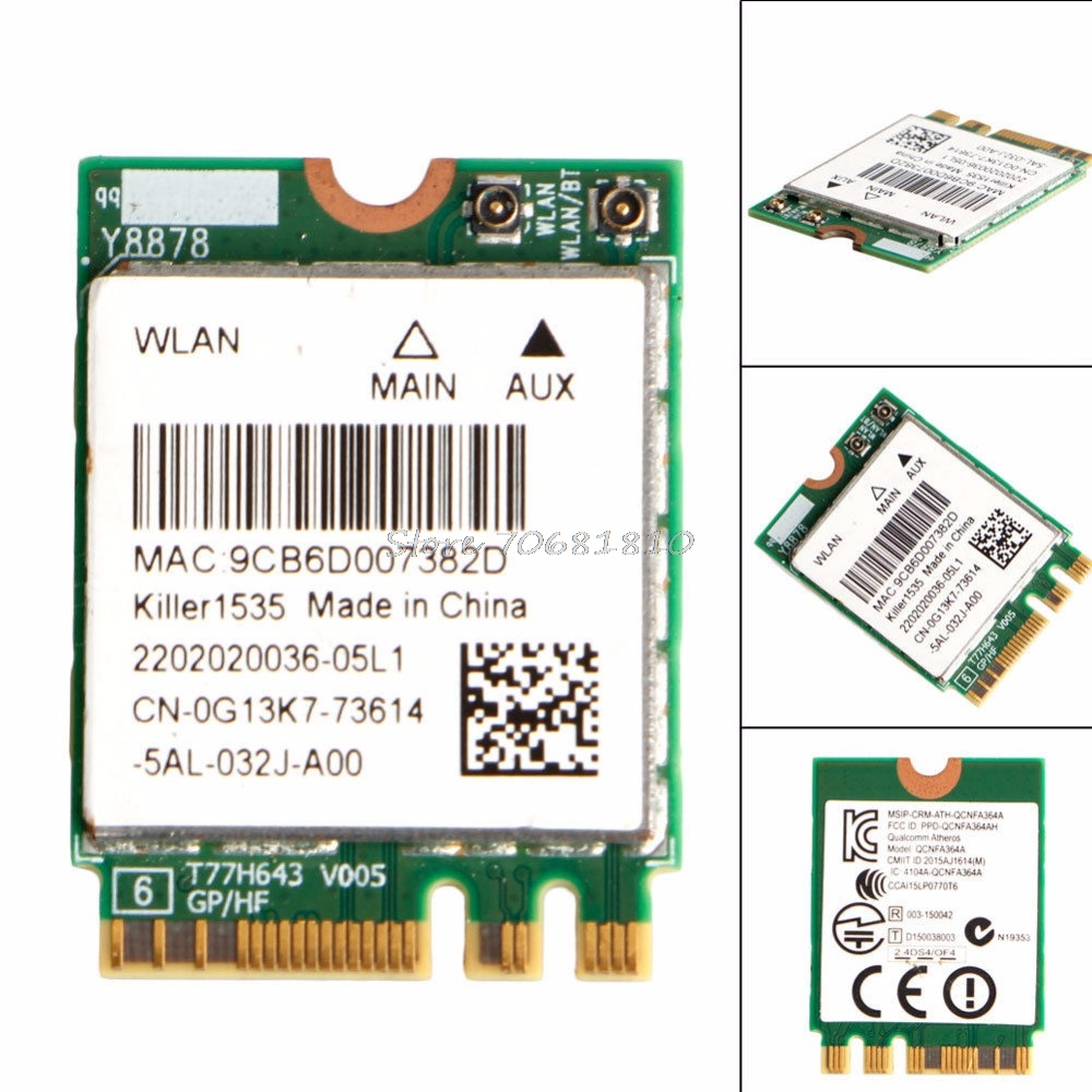 For Killer 1535 ac a g n M 2 Wireless Card Bluetooth 4 1 ALIENWARE 17