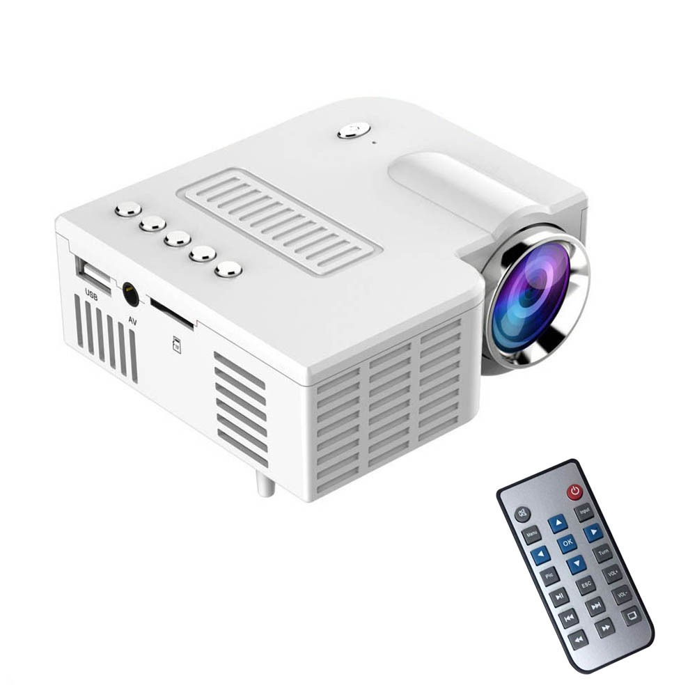 EU Plug Portable UC28 PRO HDMI Mini LED Projector Home Cinema Theater AV VGA USB SL@88
