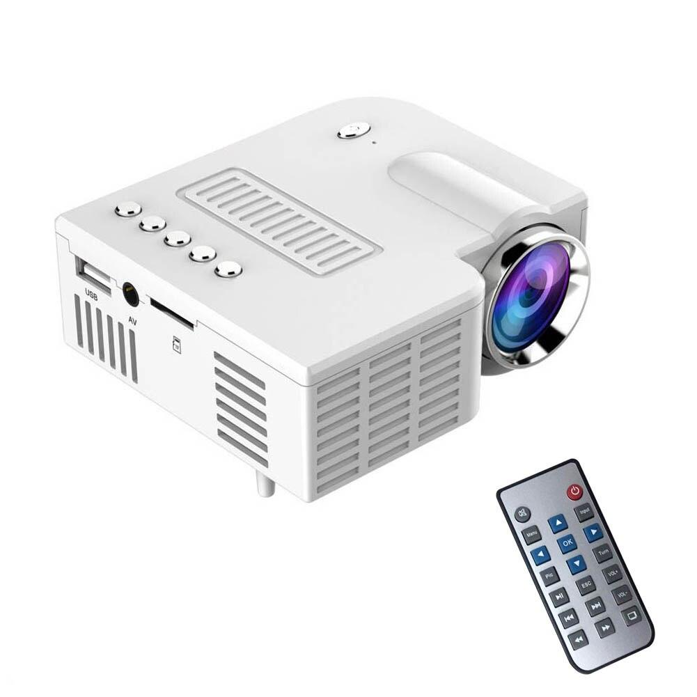EU Plug Portable UC28 PRO HDMI Mini LED Projector Home Cinema Theater AV VGA USB SL@88