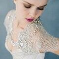 Marverlous Encolhe Os Ombros De Prata Luxo Capas De Noiva Strass Sparkly Cristal Xale Casamento Boleros de Casamento Frisado Acessórios BLB120