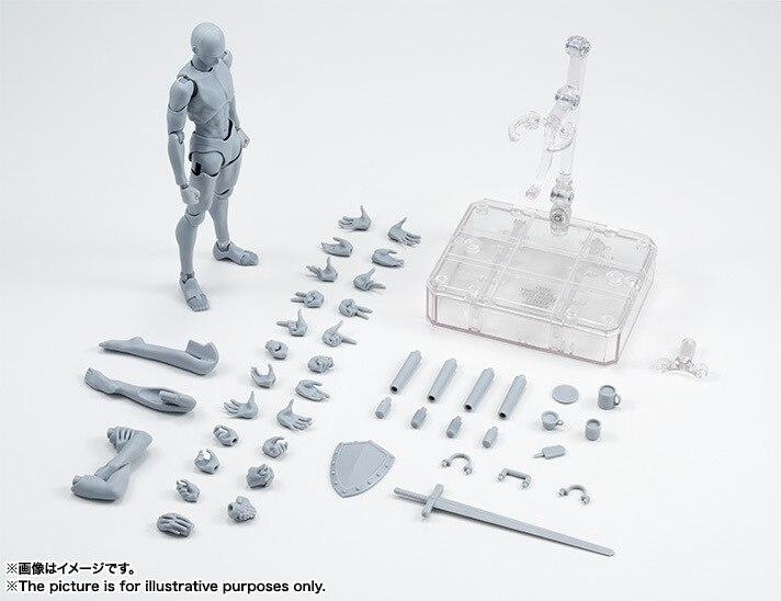 Il/Elle Mâle/Femelle CORPS KUN/CORPS CHAN Gris Couleur Corps Pour Catoon Dessin Action Figure Collection modèle Jouet