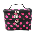 Kit pouch storage make-up toilet travel dot bag Fuchsia woman