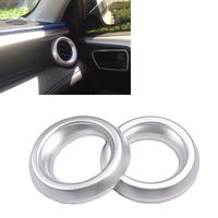 JEAZEA 2Pcs Car Styling Matte Chrome Silver Air Vent AC Outlet Frame Cover Trim For Toyota