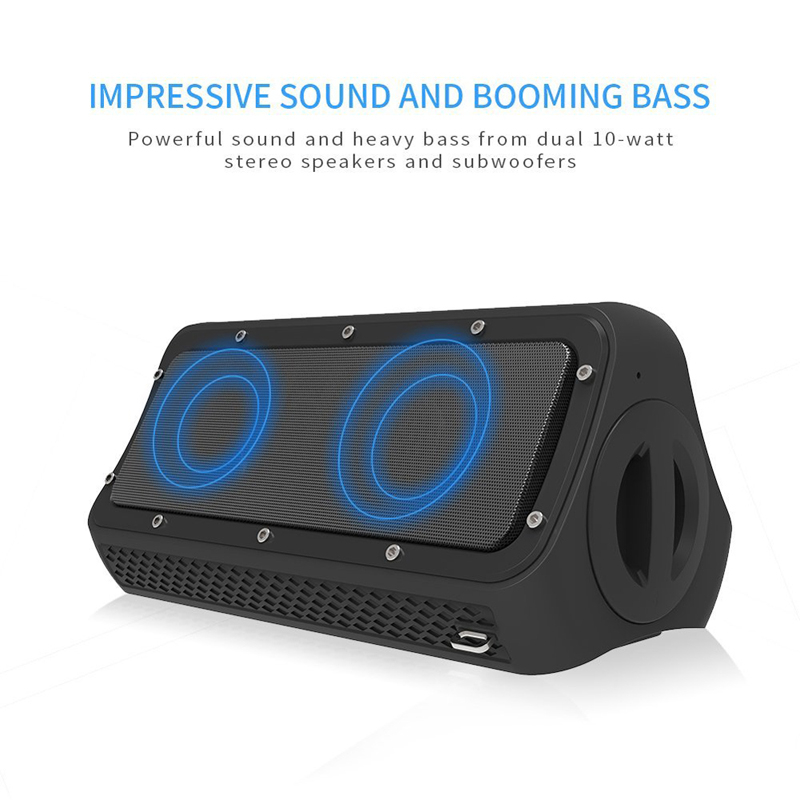 Desxz TWS High Power Wireless Bluetooth Speakers Portable Outdoor Bluetooth 4.2 Professional Super Bass Soundbar for Phone 20W x3 pro wireless bluetooth speaker portable tws hands free phone calls waterproof audio super bass high definition sound speakers