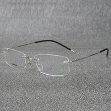Rimless Titanium Eyeglasses Frame Super Lightweighted Flexible Alloy Temple Legs Optical Glasses Spectacles