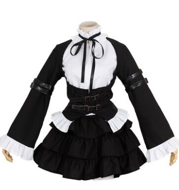 anime fairy tail cosplay fairy tail clothing black maid costumes sexy maid cosplay costumes erza cosplay erza costume
