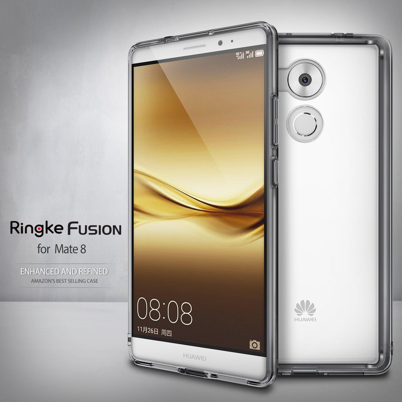 bilder für 100% Original Ringke Fusion Taube 8 Fall Crystal Clear Zurück Abdeckung und TPU Rahmen eingebaute Staubstecker Fällen für Huawei Taube 8