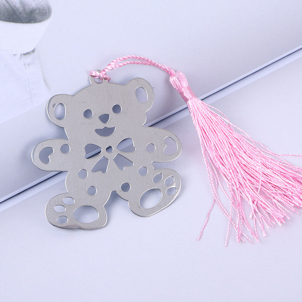 Metal Bear Hollow Bookmark Tassel Page Book Maker Wedding Birthday Gift Hot Sale