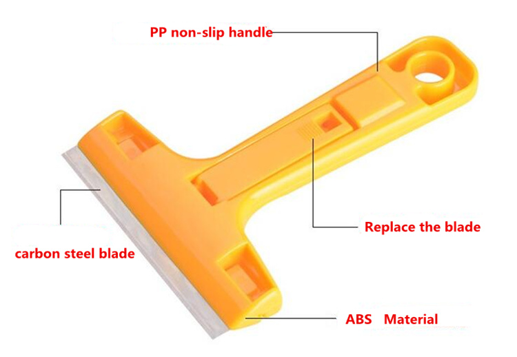 HTB1tYYOCACWBuNjy0Faq6xUlXXal - Portable Handheld Scraper Squeegee Putty knife for Glass Floor Tiles Wall cleaning tool with 10pcs Carbon steel blade