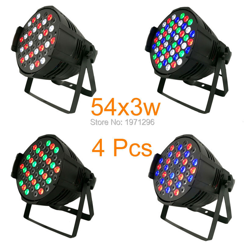 4pcs/lot Free&Fast shipping event lighting par rgbw 54x3w led wash dmx 8 channels stage wash par light