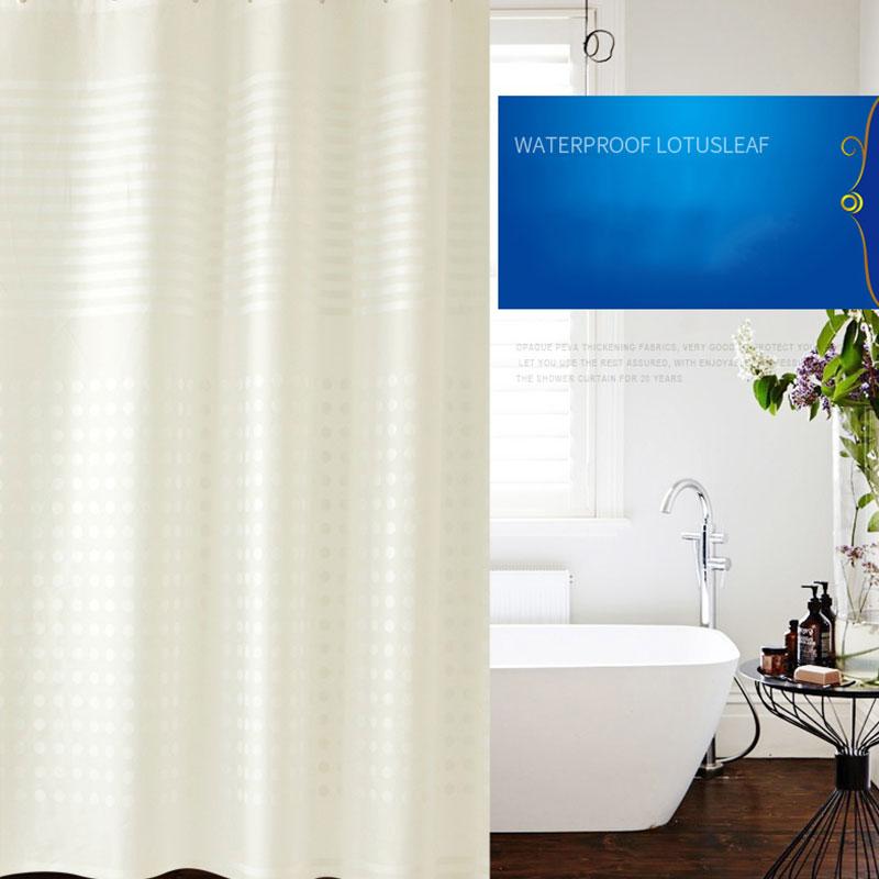 European style PEVA shower curtain waterproof thick plastic mold ...