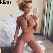 Weirdgirl New fashion women casual fitness suits  cropped tops tanks and movement work out leggings pants two pieces sets suits