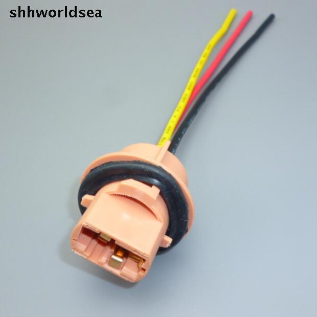 shhworldsea 12cm 20AGW copper cable 10 pcs/lot T20 AUTO bulb socket ...