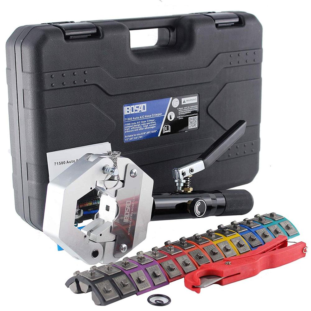 Manual Hydraulic Hose Crimping Tool Auto A/C Hose Hydra Crimper Repair Air  Condition Hose 71500 Free Shipping