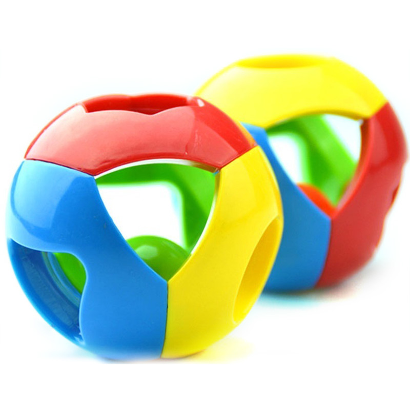2016 Bell Children Grasping Rattles Ball Kids Boys Jingle Bell Infant Educational Toys Intellectual Enlightenment YJS in Baby Rattles Mobiles from Toys Hobbies