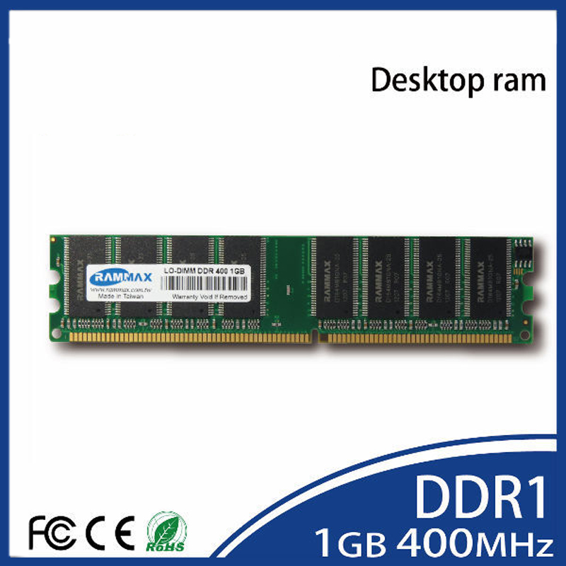 <font><b>1GB</b></font> kit (1GBx2) <font><b>DDR</b></font> PC3200 DESKTOP Ram Memory Modules (184-pin LO-DIMM 400MHz) high compatible with all brand motherboards of PC image