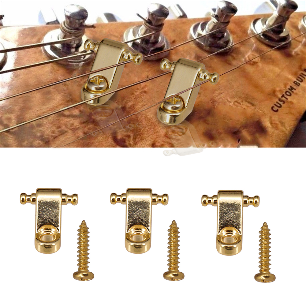 2pcs electric guitar roller string trees string retainer mounting tree guide for electric. Black Bedroom Furniture Sets. Home Design Ideas