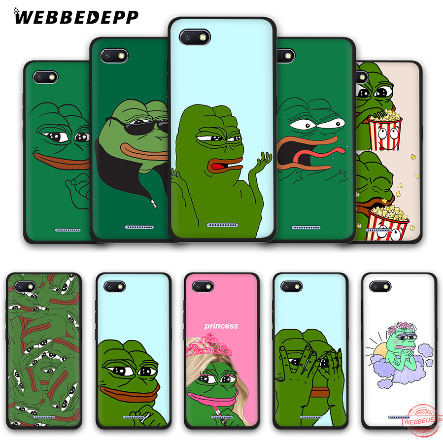 WEBBEDEPP the Frog <font><b>meme</b></font> pepe Soft Phone Case for Redmi Note 8 7 6 5 Pro 4A 5A 6A 4X 5 Plus S2 Go Cases image