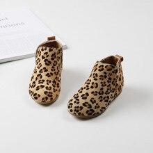 Мода 2017 г. зимние детские кожаные ботинки леопарда для девочек зимняя женская обувь зимняя обувь ботильоны для девочек кроссовки