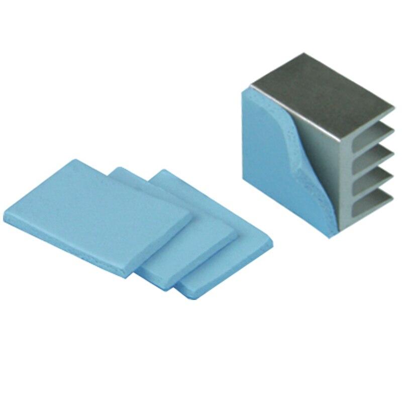 YOUNUON 100x100mm 0.5mm 1mm 1.5mm 2mm 3mm 4mm 5mm tichkess Thermal Pad CPU Heatsink Pad Cooling Conductive Silicone Thermal 3