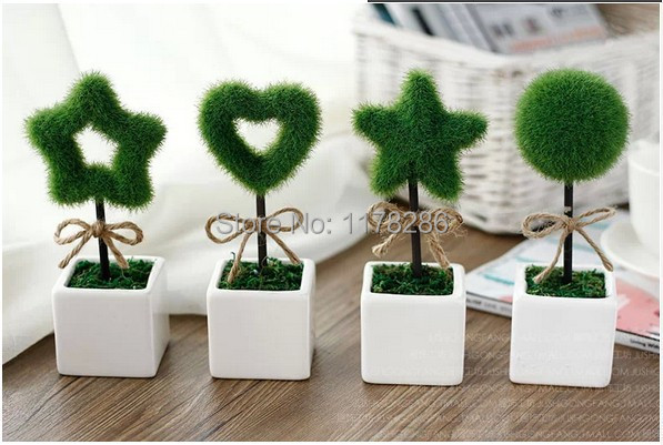 Plants Pot Office Wishing Tree Artificial Plant Small Bonsai Simulation Decorative Flower Gift False Plush Desk Mini In Dried Flowers From