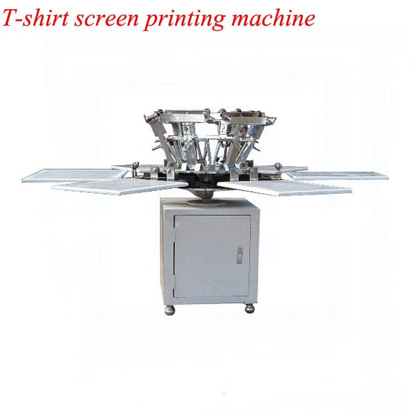La Machine d'impression d'écran de T-shirt de Station de la couleur 6 de 110 kg 6 vient avec la Base H0275