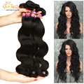 7A Brazilian Virgin Hair Body Wave 5 Bundles Gaga Queen Brazilian Body Wave Hair Bundles Unprocessed Real Human Hair Extensions