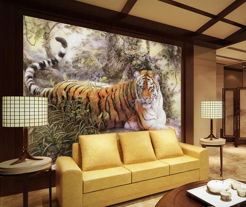 Spedizione gratuita tigre wallpaper camera da letto carta for Carta da parati moderna in 3d