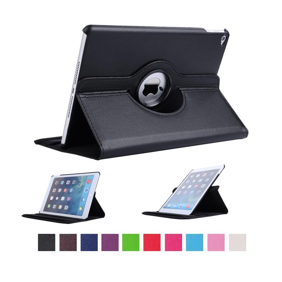 For iPad Air 2 Case Stand Feature Luxury 360 Rotating PU Leather Case Cover for iPad Air 2 iPad 6 Coque Funda for apple ipad air 2 pu leather case luxury silk pattern stand smart cover