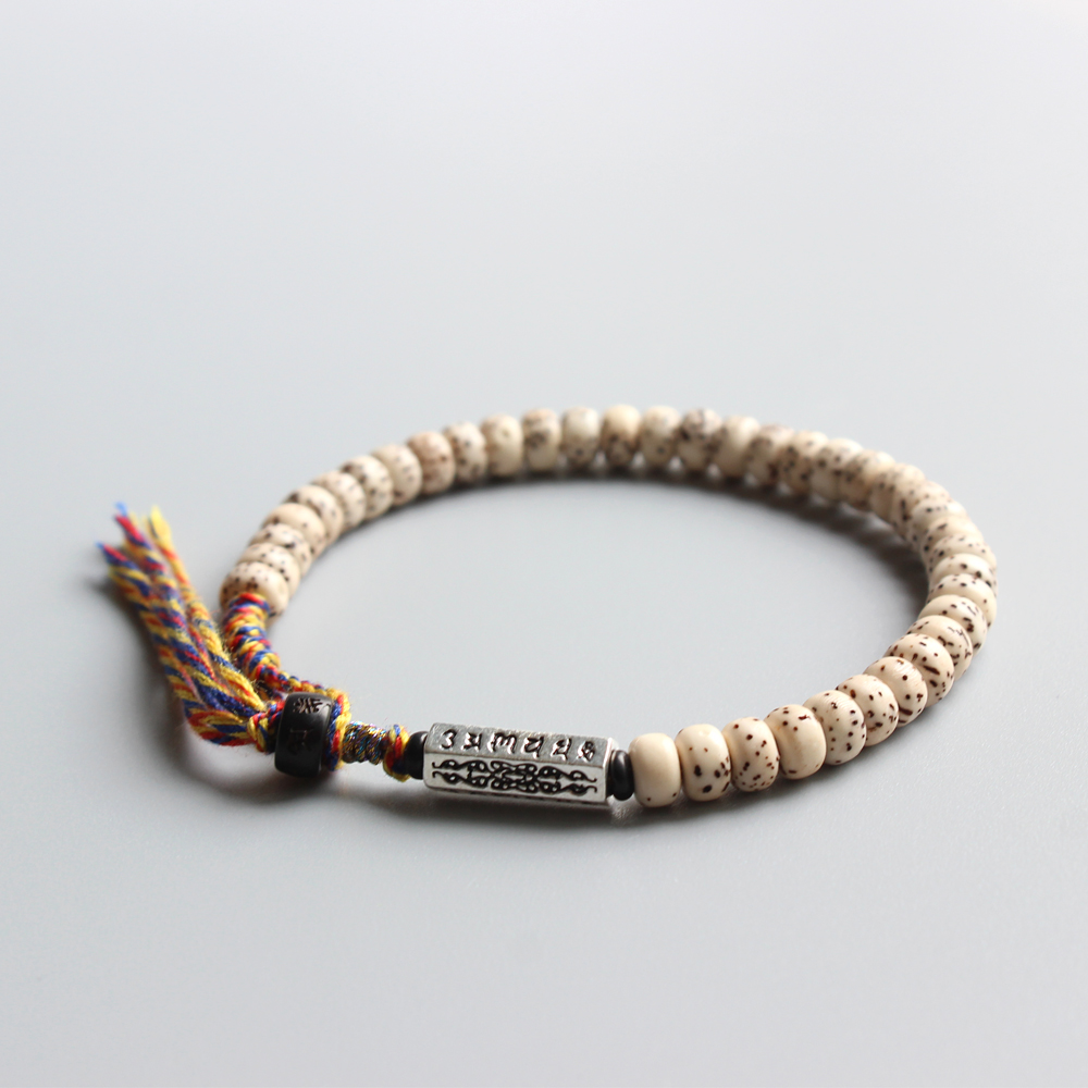 Wholesale Xingyue Bodhi Seed Bead Men's Bracelet Tibetan Buddhism Wrist Mala Six Ture Words Charm Unique Ethnic Jewelry Handmade