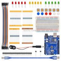 New Starter Kit UNO R3 Mini Breadboard LED Jumper Wire Button Free Shipping