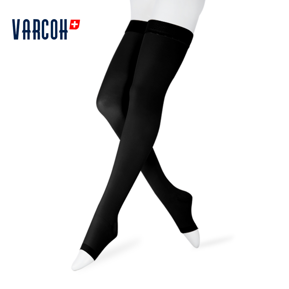 Image 5 - 23 32 mmHg Medical Compression Stockings Women's Men's Nurses Graduated Support Varicose Veins Flight Travel Pregnancy Open Toe-in Stockings from Underwear & Sleepwears on AliExpress
