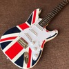 New Arrive Custom Shop National Flag Design ST Electric Guitar Real Photo Shows