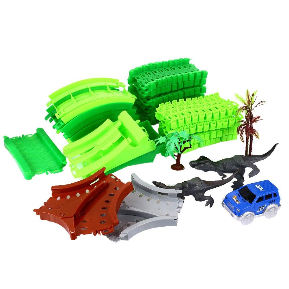 Интересные вагоны пластиковый Декор динозавров гоночной трассе для подарок на день рождения Прямая