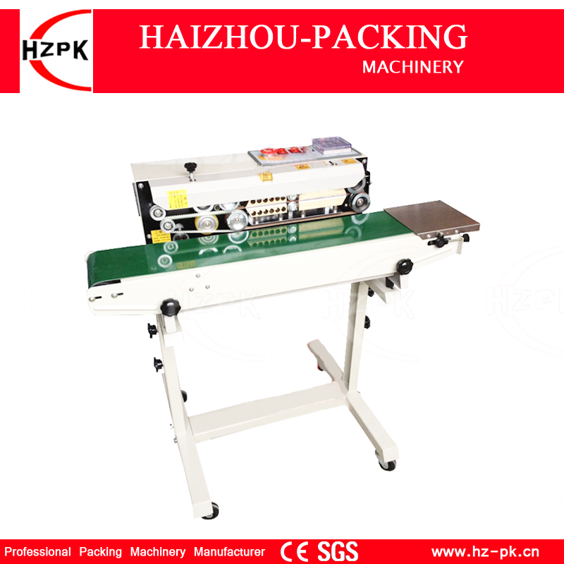 Hzpk Automatic Vertical Iron With Spray Type Sealer Continuous Plastic Film Sealing Machine Conveyor For Food Tea Bag Fr770 In Vacuum Sealers From