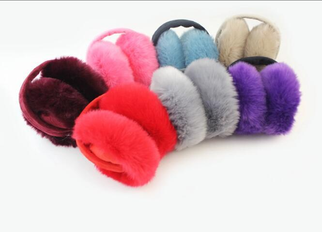 Winter Lovely Rabbit Earmuffs For Girls Comfort Winter Women Fur Warmers Earmuffs Winter Warm Ear Earmuffs