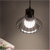 6PCS Fanlive Iron Vintage Ancient Hanging Ceiling Lamp Bulb Light Fitting Guard Wire Cage Cafe Lampshade Lamp Cover 200x230mm