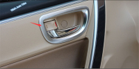 For Toyota Corolla 2017 2018 ABS Auto Styling Inner Door Pull Handle Bowl Cover Trim 4