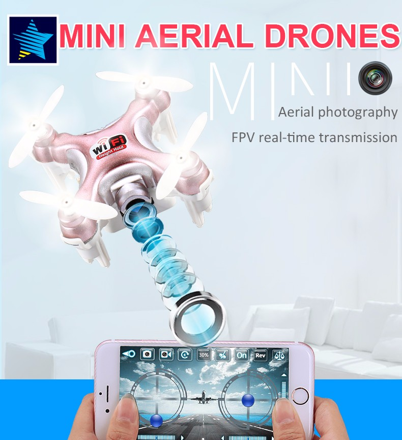 Free Shipping Cheerson CX-10WD CX10WD Mini micro RC Quadcopter kvadrokopter with camera gift for child toy