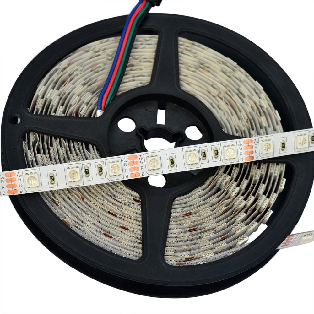 RGB Led Strip No impermeable 5M SMD 5050 300 LED / Rollo +24 teclas - Iluminación LED - foto 2