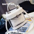 2016 Brand designer Women summer new jelly leather bags transparent handbag beach BAG ladies Tote cute bags