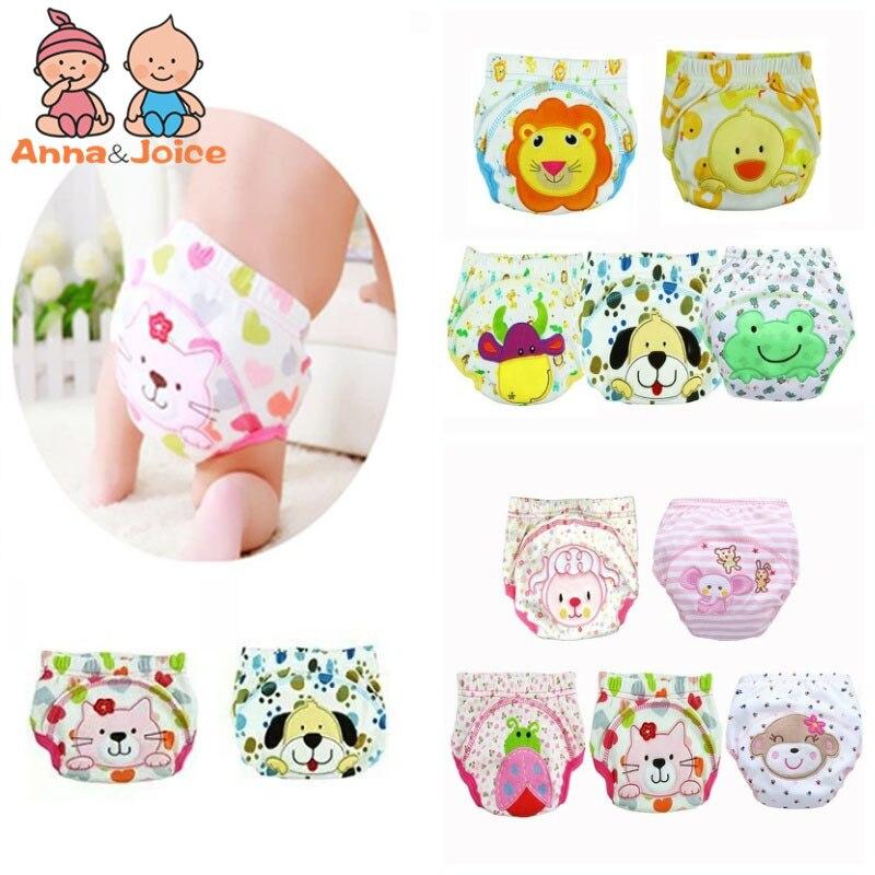 6pc bebê treinamento calças novas crianças estudo fralda roupa interior infantil aprendizagem calcinha recém-nascidos dos desenhos animados fraldas trx0001