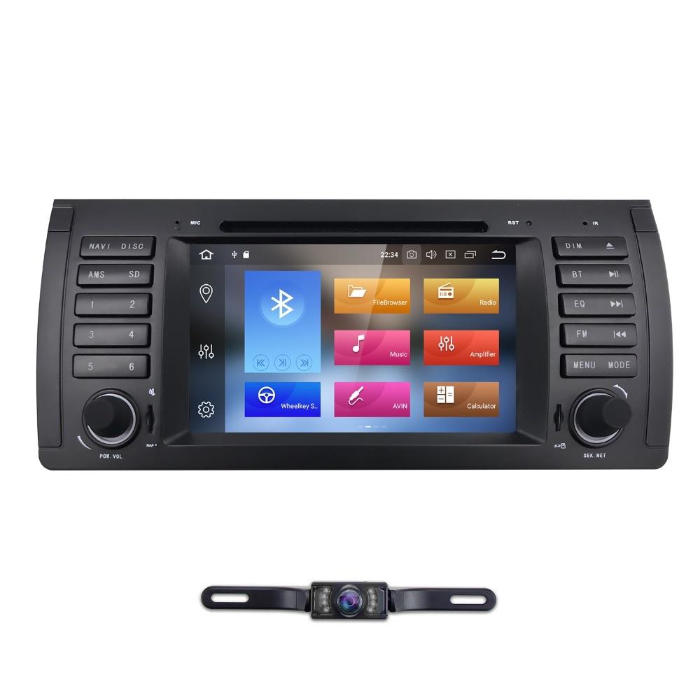 Hizpo AutoRadio 1 Din Android 8.0 Lecteur DVD de Voiture pour BMW E39 bmw x5 e53 1996-2007 Multimédia Stéréo Navigation GPS Wifi 4G + 32 GB