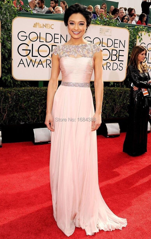 2015 elegante por encargo premios Oscar vestidos una línea de encaje ...