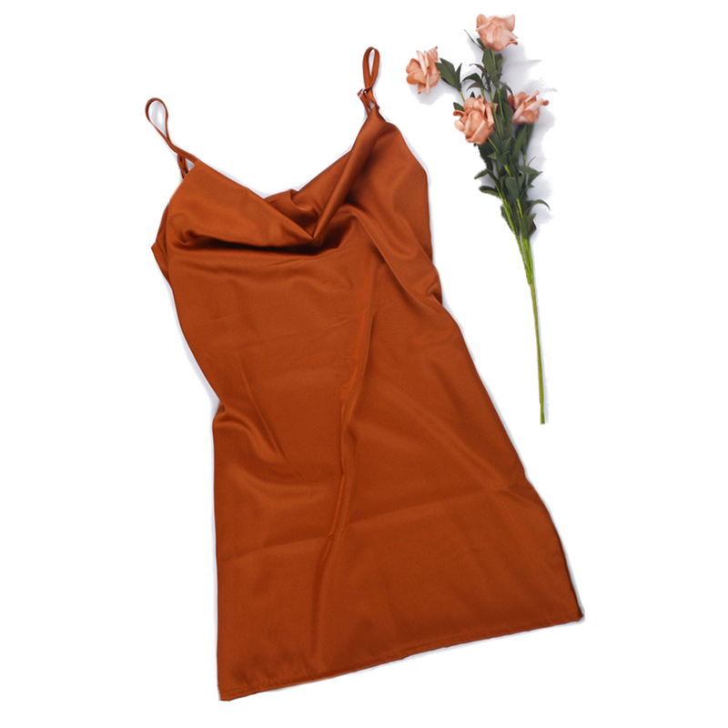 61b2e680a49 Ordifree 2019 Summer Women Silk Mini Dress Spaghetti Strap Backless Short  Satin Slip Dress x7 x8 x9 x2 x3 x4 ...
