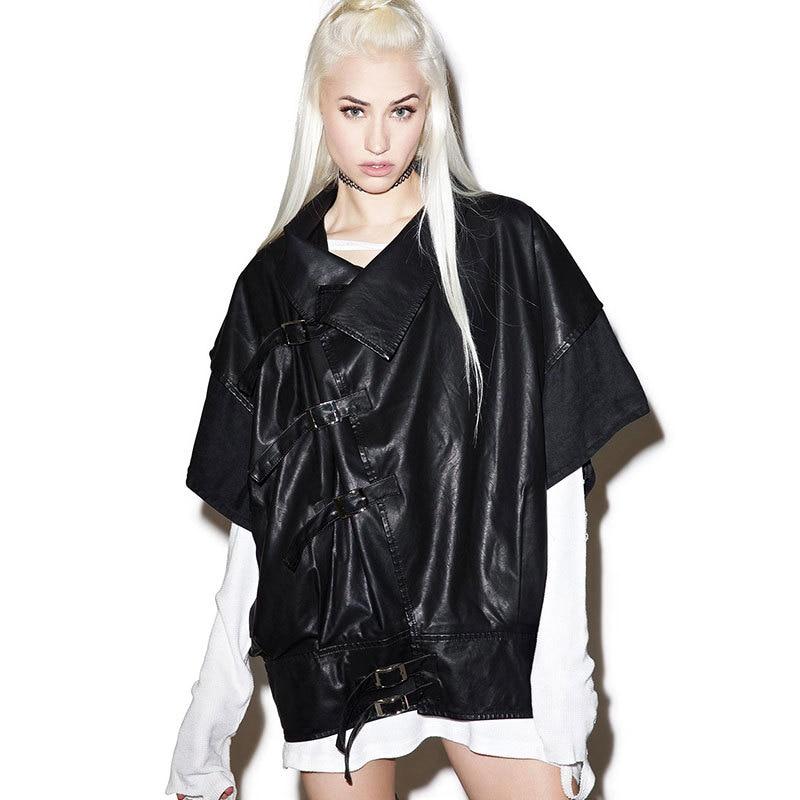 2017SG Europe PU leather coat loose BianFuShan female hip hop of a locomotive jacket /bomber jacket, absolutely cool/windbreaker