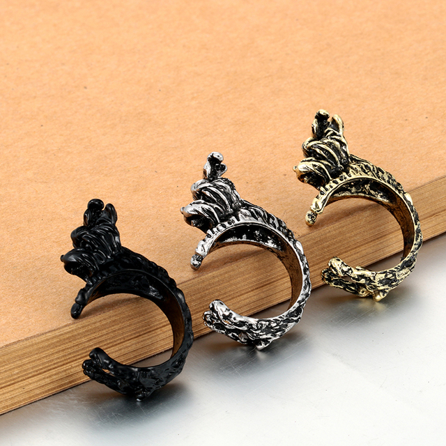 Fashion Yorkshire Terrier Shaped Ring