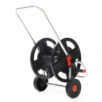 Garden Portable Hoses Reel Garden Wall Mount 45M 1/2 Cart Water Pipe Storage Car Washer Pipe Exclude Winding Tool Rack Holder